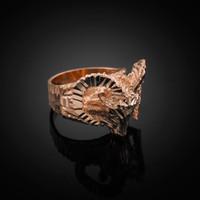 Rose Gold Mountain Ram Ring