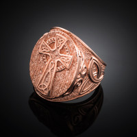 Men's Rose Gold Celtic Ring.