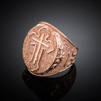 Rose Gold Russian Cross Ring
