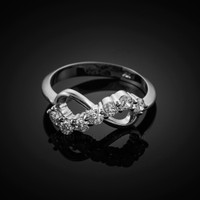 White Gold Infinity CZ Ring
