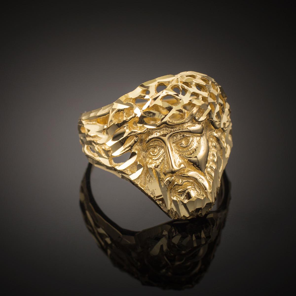 gold jesus s ring ebay