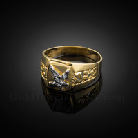 Men's Gold Eagle Ring
