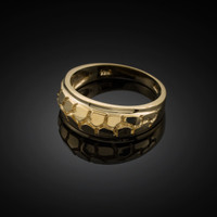 Gold Nugget Wedding Band