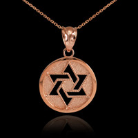 Rose Gold Cut-Out Star of David Pendant Necklace