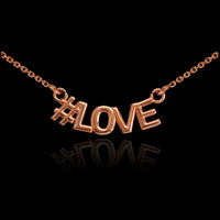 14k Rose Gold #LOVE Necklace