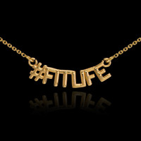 14k Gold #FITLIFE Necklace