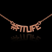 14k Rose Gold #FITLIFE Necklace
