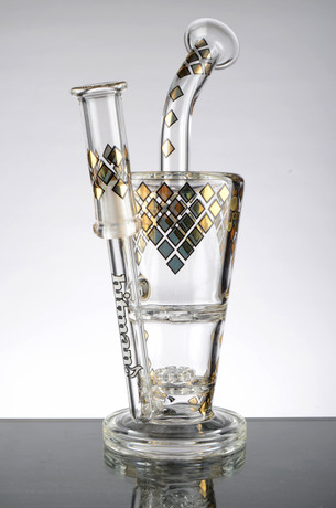 9 in. Hitman JAG Sundae Cup Rig with Flat Disc and Turbine Percs
