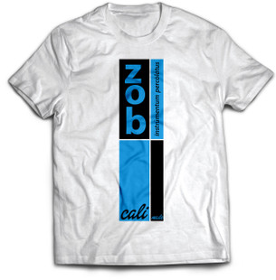Zob Stacked T-shirt Blue on White