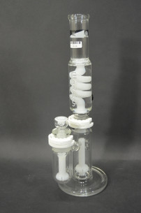 Illadelph White Detachable Coil Condenser Pipe with Shower Head Base