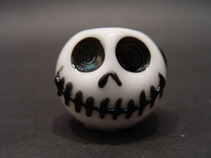 4 inch Chameleon Glass Pipe- Skellington-Image 1
