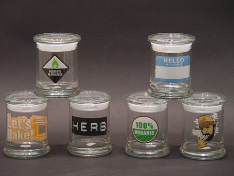 4 inch Glass Stash Jar-Image 1