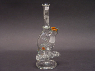 10 inch DC Glass Werx Decked Out Inline Donut Worked Water Pipe-Image 1