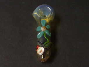 4 inch Daisy Mini Sculpture by Chameleon Glass-Image 1