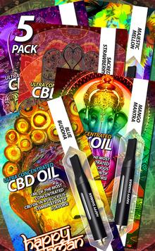 Happy Shaman CBD Oil Variety 5-Pack