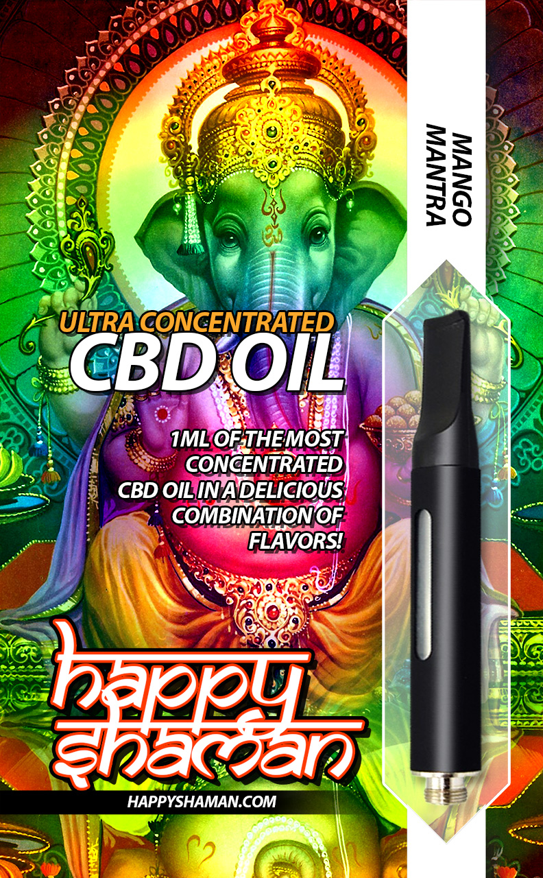 Happy Shaman CBD Oil Mango Mantra