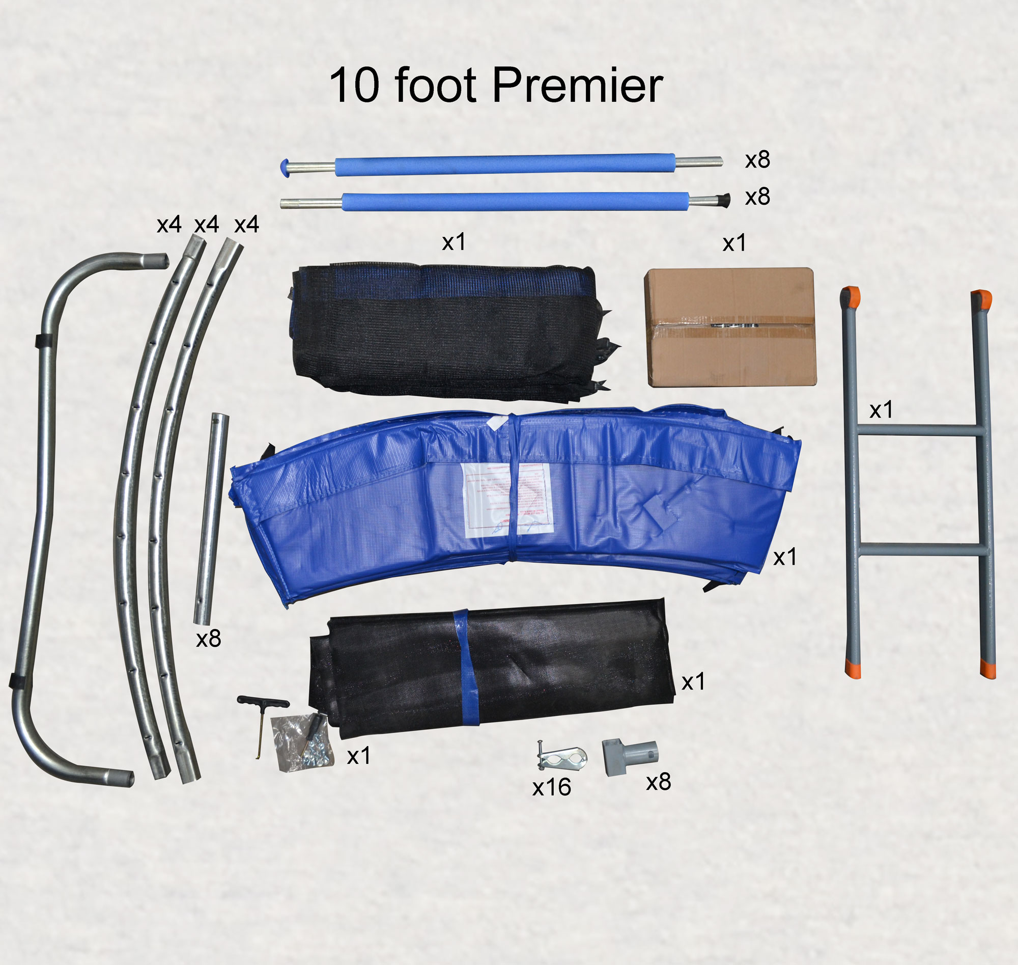 10ft Premier Trampoline Box Contents
