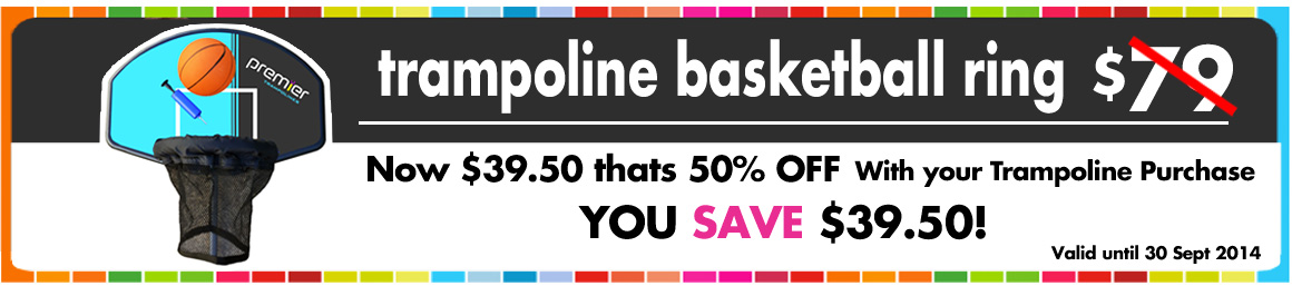 50% Off Trampoline Basketball ring!