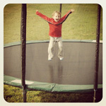 Happy little #jumper #premiertrampolines