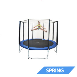 10ft Spring Trampoline with Net and Ladder Clearance