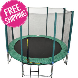 GREEN 8ft (6 Pole) Safety Net for Trampoline