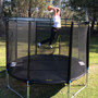 8ft Spring Jump Trampolines with net & Basketball Hoop