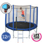 12ft Spring Trampoline with Net,  Ladder & Basketball Hoop
