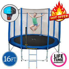 16ft Spring Trampoline with Net and Ladder