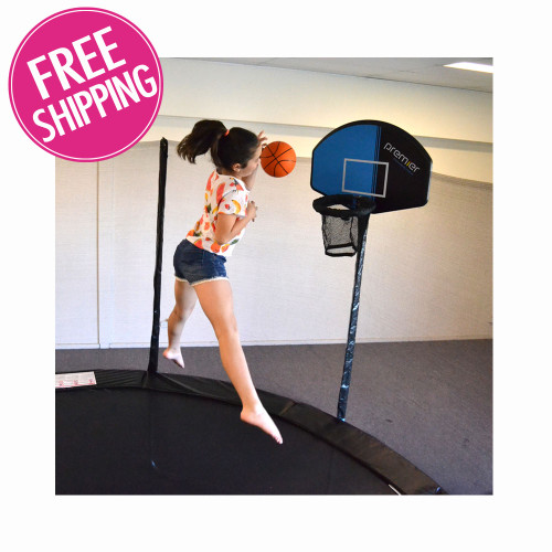 Propel 14 Trampoline With Fun Ring Enclosure: Basketball Hoop For Trampoline