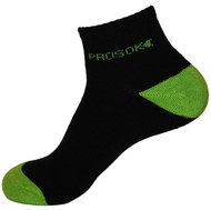 Prosok Bamboo Ankle Sock L9 Heavy Weight Sport Black Green
