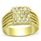 .34 Ct Crystal 14k Gold Ion Plated Stainless Steel Cocktail Fashion Ring Sz 5-10
