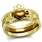 Two-toned Gold & Brown Stainless Steel Claddagh Fashion Ring Women's Size 5-10