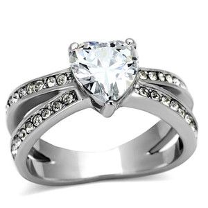 Stunning Heart Shape AAA CZ Engagement Wedding Ring Band Sz 5-10