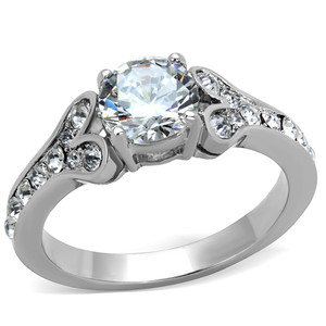 STAINLESS STEEL 316, 1.82CT CUBIC ZIRCONIA ENGAGEMENT RING WOMENS SIZE 5-10