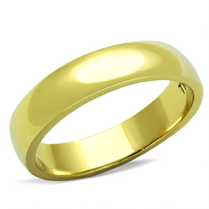 4.4mm CLASSIC STAINLESS STEEL 316, GOLD PLATED UNISEX WEDDING BAND SIZES 5-13