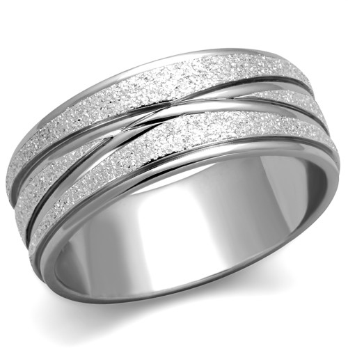 artk1671 stainless steel 316 glitter 8mm wide anniversary wedding band ring sizes 5 10 - Wedding Band Ring
