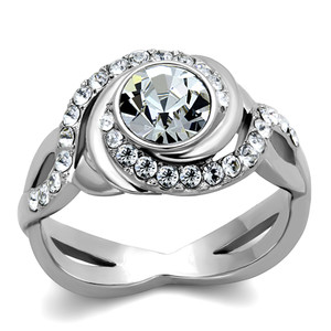 2.18 CT ROUND CUT AAA ZIRCONIA STAINLESS STEEL ENGAGEMENT RING WOMEN'S SIZE 5-10