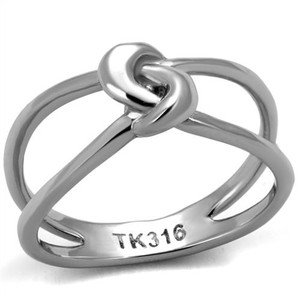 High Polished Solid Stainless Steel 316 Fashion Knot Ring