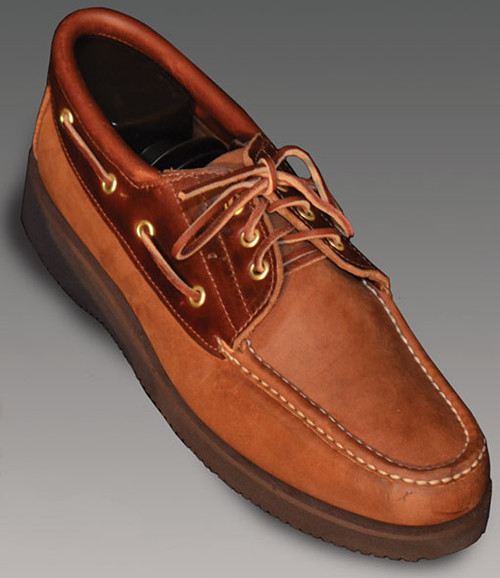 13-7W Uppers of Rust Chamois and Tan Chromexcel trim
