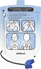 Defibtech Lifeline AED/AUTO Pediatric Defibrillation Electrode Pads Package