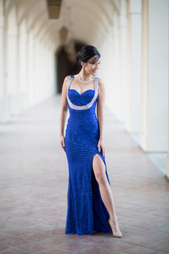 Atina Collection Blue Lace Beaded Strappy Back Evening  Dress Neckline: Sweetheart neckline  Details:Sparkly beads extending from shoulders to breastline  Slit: Front
