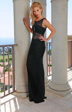 Atina Collection Black Sheer Dress