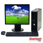 Windows 7 Premium Dell Optiplex 755 2.2 GHz, Core 2 Duo Small Desktop  LCD Computer Monitor