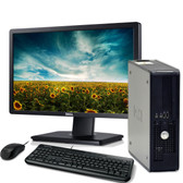 Windows 7 refurbished dell optiplex 760 with computer monitor