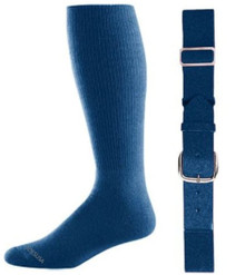 Navy Baseball Socks & Belt Combo (1 Pair of Socks & 1 Belt)