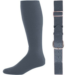 Graphite Baseball Socks & Belt Combo (1 Pair of Socks & 1 Belt)