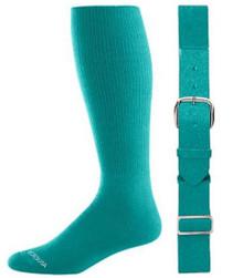 Teal Baseball Socks & Belt Combo (1 Pair of Socks & 1 Belt)