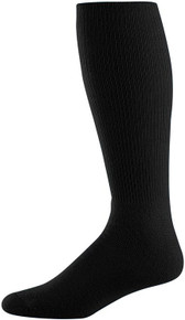 Black Soccer Game Socks