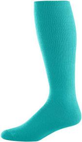 Teal Football Game Socks