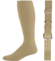 Vegas Gold Baseball Socks & Belt Combo (1 Pair of Socks & 1 Belt)